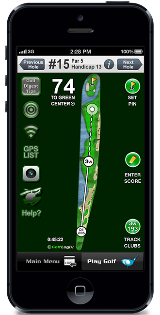 golf logix golf gps app for iphone
