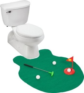 ez drinker toilet golf putter practice funny golf gifts