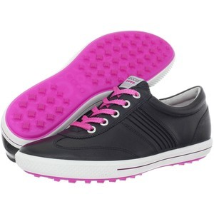 Women's Golf Shoes Beige Spectator Comfortable waterproof Leather Equipt For Play. For