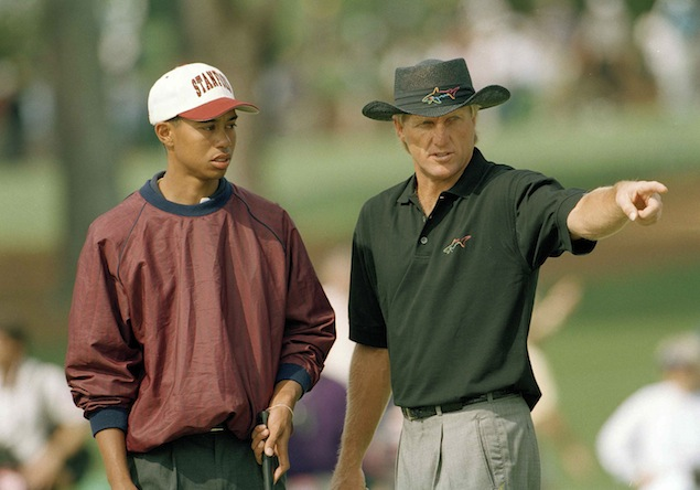 greg norman schooling young tiger woods