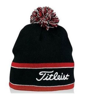 titleist winter golf hat pom pom