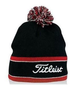 titleist winter golf hat pom pom