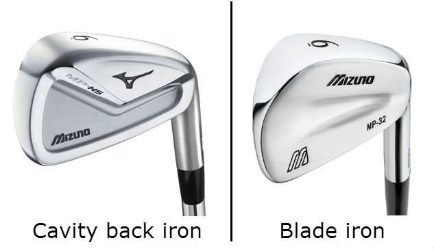 cavity back iron vs blade iron mizuno