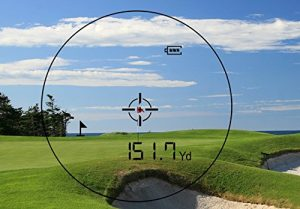 the nx7 golf range finder view finder